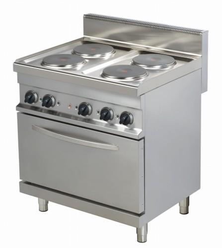 Kuchnia Elektryczna Er722 4 Palnikowa Z Piekarnikiem Elektrycznym 800x700x900 Linia 700 Resto Quality